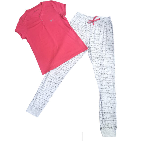 pijama-13607-manga-corta-y-pantalon-algodon-mujer-optima