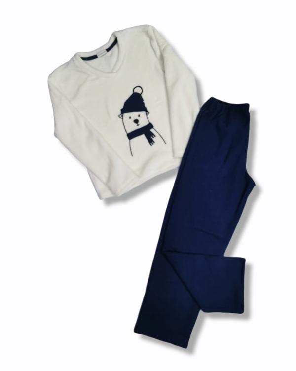 Pijama Polar Manga Larga